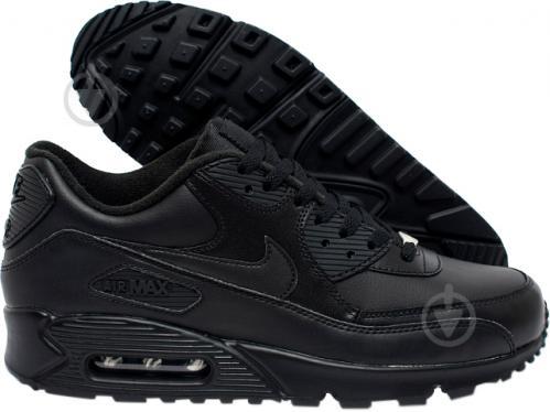 18ba954c ᐉ Кроссовки Nike Air Max 90 Leather 302519-001 р.10 черный • Купить ...