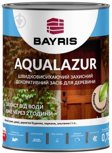 Лазурь Bayris Aqualazur Белый мат 0,75 л - фото 2