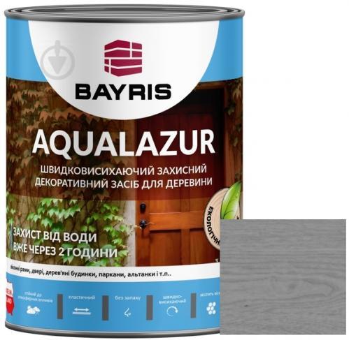 Лазурь Bayris Aqualazur Серый мат 0,75 л - фото 1