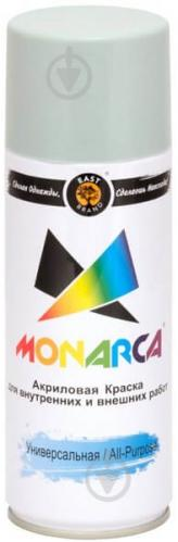 Фарба MONARCA аерозольна універсальна RAL 7004 сигнальний сірий глянець 270 г