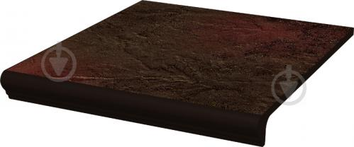 Клинкерная плитка Asti brown kapinos stopnica prosta 30x33 Ceramika Paradyz - фото 1