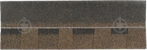 Бітумна черепиця TECHNONICOL гнучка Ранчо коричнева 2 кв.м - фото 2