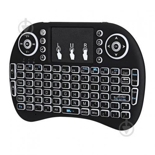Беспроводная клавиатура с белой подсветкой Noisy Black English Language (50227_my) - фото 1