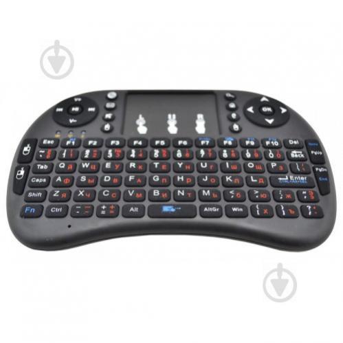 Беспроводная русская мини клавиатура с тачпадом Rii mini i8 2.4G Черный (in-73) - фото 1