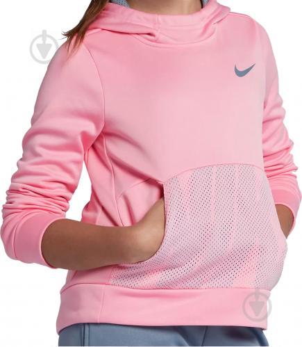 Джемпер Nike G NK THERMA HOODIE PO ENERGY р. L красный 939536-654 - фото 2
