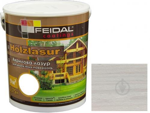 Лазурь Feidal Holzlasur белый шелковистый глянец 0,75 л - фото 1