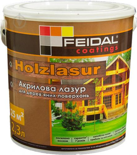 Лазурь Feidal Holzlasur белый шелковистый глянец 2,3 л - фото 2