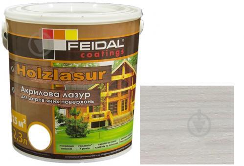 Лазурь Feidal Holzlasur белый шелковистый глянец 2,3 л - фото 1