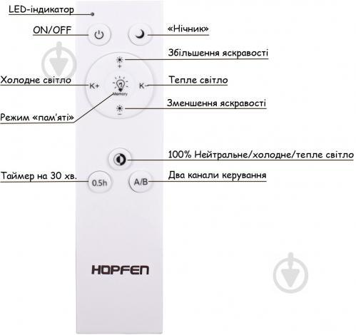 Люстра светодиодная Hopfen Vortex с пультом ДУ 100 Вт белый - фото 14
