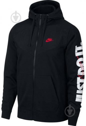 Джемпер Nike M NSW HBR+ HOODIE FZ FLC 931900-010 р. L черный