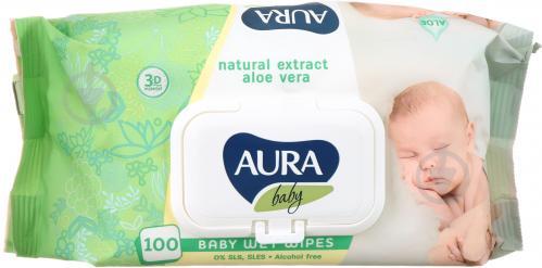 Детские влажные салфетки Aura Baby 100 шт. - фото 1