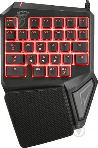 Клавіатура Trust GXT 888 Assa Single Handed USB (22881) black - фото 1