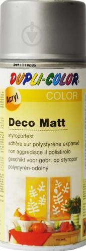 Емаль аерозольна Deco matt Dupli-Color срібний 150 мл