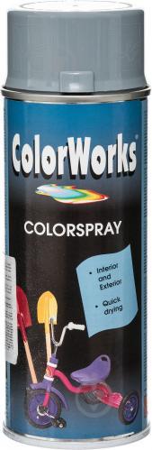 Емаль аерозольна RAL 7001 ColorWorks сірий 400 мл