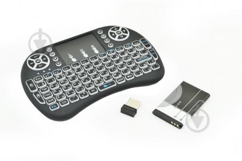 Клавиатура беспроводная русская с подсветкой Rii mini i8 2.4G Черный (R0091) - фото 1