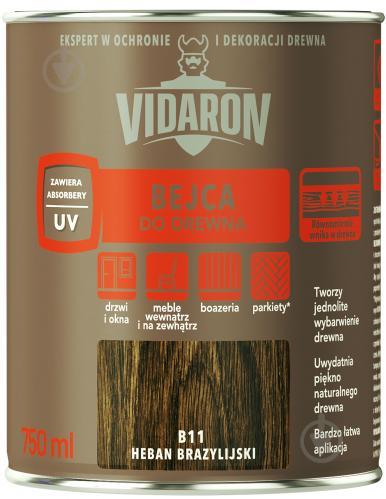 Бейц Vidaron для древесины бразильский хебан В11 мат 0,75 л - фото 1