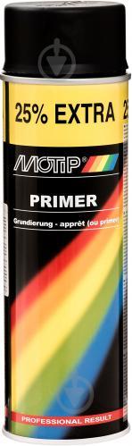 Ґрунт аерозольний Primer Motip чорний 500 мл