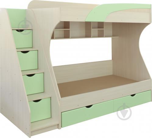 Ліжко двох'ярусне Пєхотін Кадет 80x190 см молочний/фісташковий - фото 2