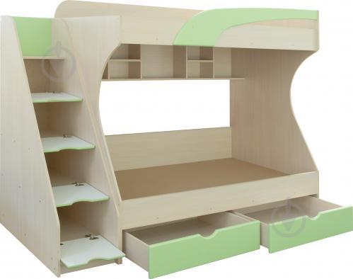Ліжко двох'ярусне Пєхотін Кадет 80x190 см молочний/фісташковий - фото 3