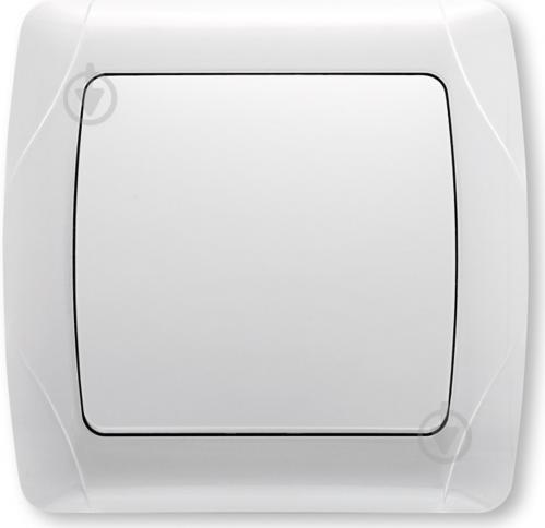 Вимикач одноклавішний  Viko CARMEN без підсвітки 10 А 250В  IP20 білий СR-1601
