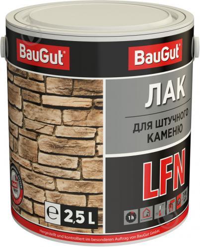 Лак для штучного каменю LFN BauGut напівмат 2,5 л прозорий - фото 1