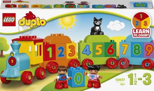 Конструктор LEGO DUPLO Потяг із цифрами 10847 - фото 1