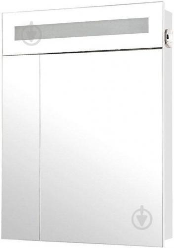 Зеркальный шкаф Aqua Rodos Ника 60 с подсветкой белое - фото 1