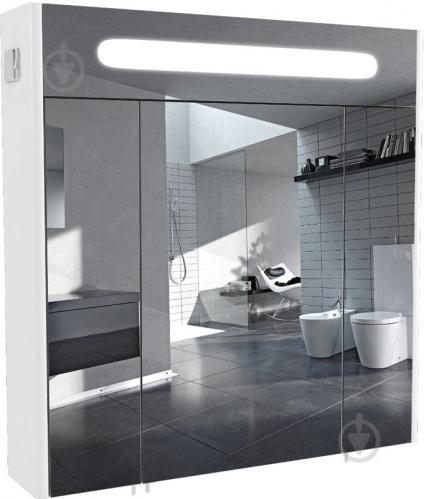 Зеркальный шкаф Aqua Rodos Париж 80 с подсветкой - фото 1
