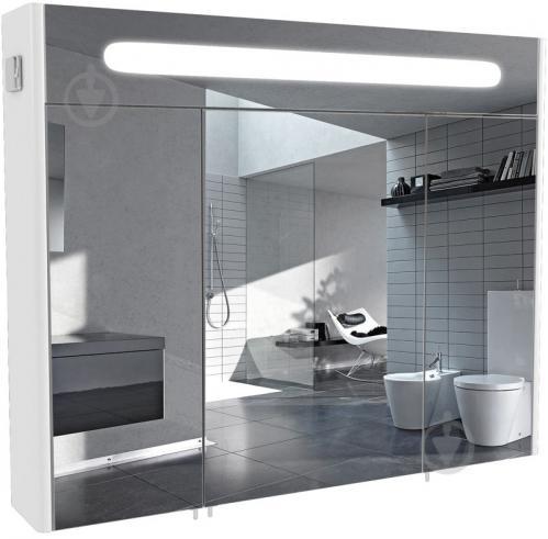 Зеркальный шкаф Aqua Rodos Париж 100 с подсветкой - фото 1