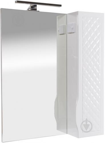 Зеркало со шкафчиком Aqua Rodos Родорс 65 белое с подсветкой шкаф справа - фото 1