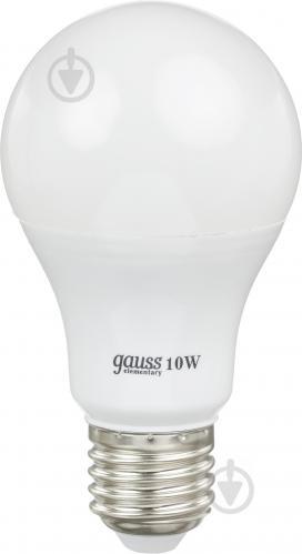 Лампа світлодіодна Gauss Elementary 23210 10 Вт A60 матова E27 220 В 2700 К - фото 1