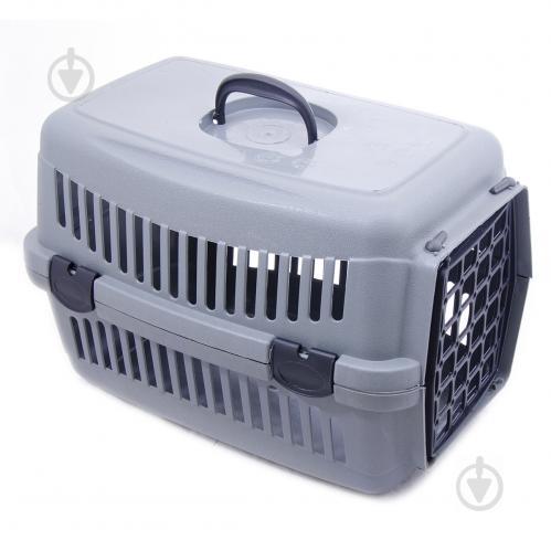 Переноска SGbox для котів і собак сіра до 6 кг SG16008 - фото 1
