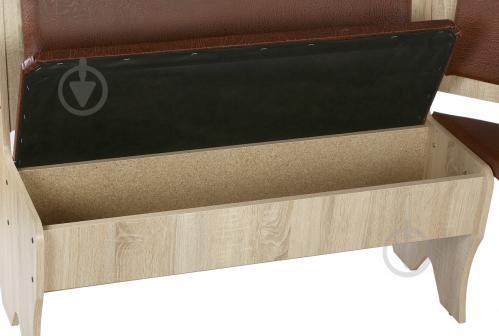 Куточок кухонний Компаніт Імператор зі столом та 2 табуретками дуб сонома бронза - фото 4