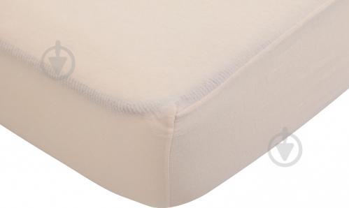 Простынь на резинке 180x200 см молочный UP! (Underprice) - фото 1