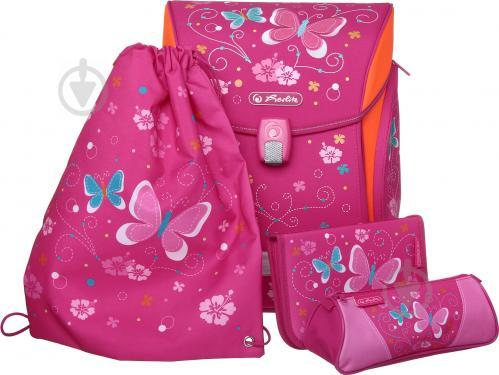 29dd2304a87b ᐉ Рюкзак школьный Herlitz укомплектованный Midi Plus Butterfly ...
