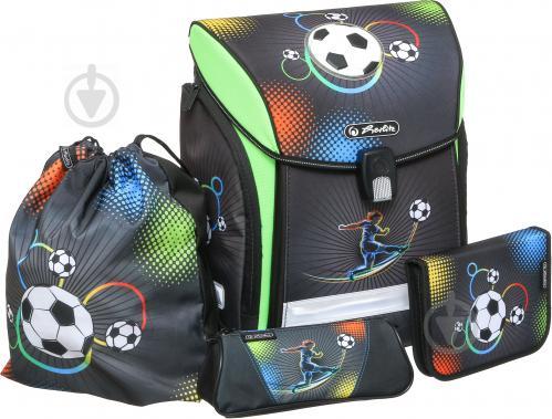 ccf24901e8d0 ᐉ Рюкзак школьный Herlitz укомплектованный Midi Plus Soccer ...