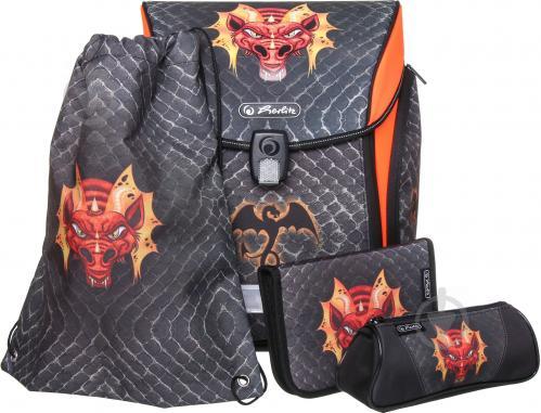 7d96ba9913d1 ᐉ Рюкзак школьный Herlitz укомплектованный Midi Plus Dragon ...