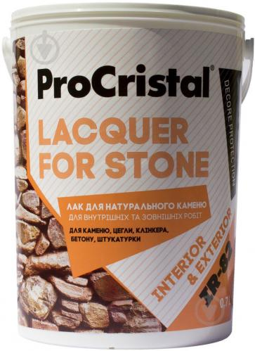 Лак акриловий для натурального каменю ІР-82 ProCristal глянець 0,7 л прозорий - фото 1