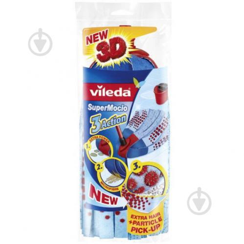 Сменная насадка к швабреVileda Сменный моп Super Mocio 3 Action Velour 8 см - фото 1