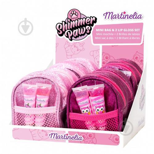 Набор детской декоративной косметики Martinelia Shimmer Paws блески для губ + сумка мини 30495 - фото 1