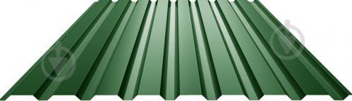 Профнастил глянцевий СТАЛЕКС ПС-18 0,4x1140x1500 мм RAL 6005 зелений
