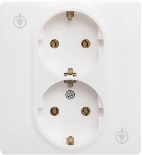 Розетка двойная с заземлением Legrand Legrand Etika 2Х2К+З со шторками белый 345a6dcc62b