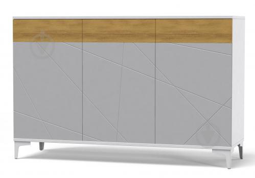 Греденция Art in Head Picassa Т6 3д аляска /пепельный софттач - фото 1