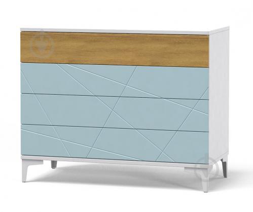 Комод Art in Head Picassa 4ш аляска /голубая лагуна - фото 1
