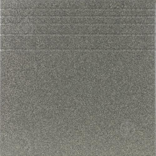 Плитка Атем Грес 0601 темно-серый Pimento 30x30 ступень - фото 1