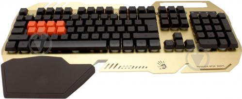 Клавіатура A4Tech Bloody B418 USB Golden (B418) - фото 1