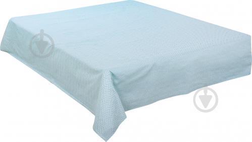 Простынь Геометрия голубая 220x160 см голубой с белым UP! (Underprice) - фото 1