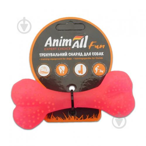 Іграшка для собак AnimAll Кістка 12 см коралова 88113 - фото 1