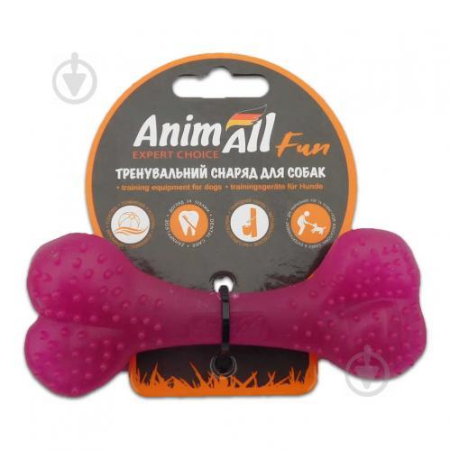 Іграшка для собак AnimAll Кістка 12 см фіолетова 88114 - фото 1