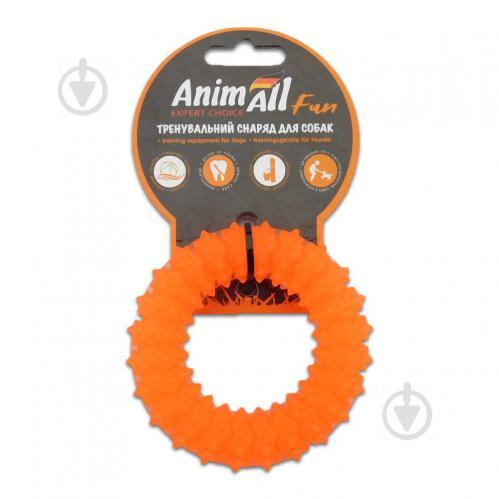 Іграшка для собак AnimAll Кільце з шипами 9 см помаранчеве 88162 - фото 1